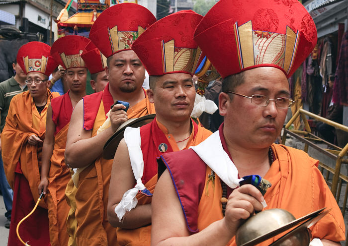 Boxed blessings: joining a Buddhist procession in Darjeeling