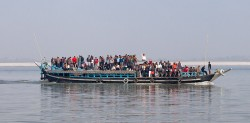 Assam: the ferry to Majuli island