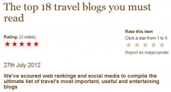 IWC makes it into the Top 18 travel blogs you must read!