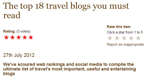 Top 18 blogs Wanderlust